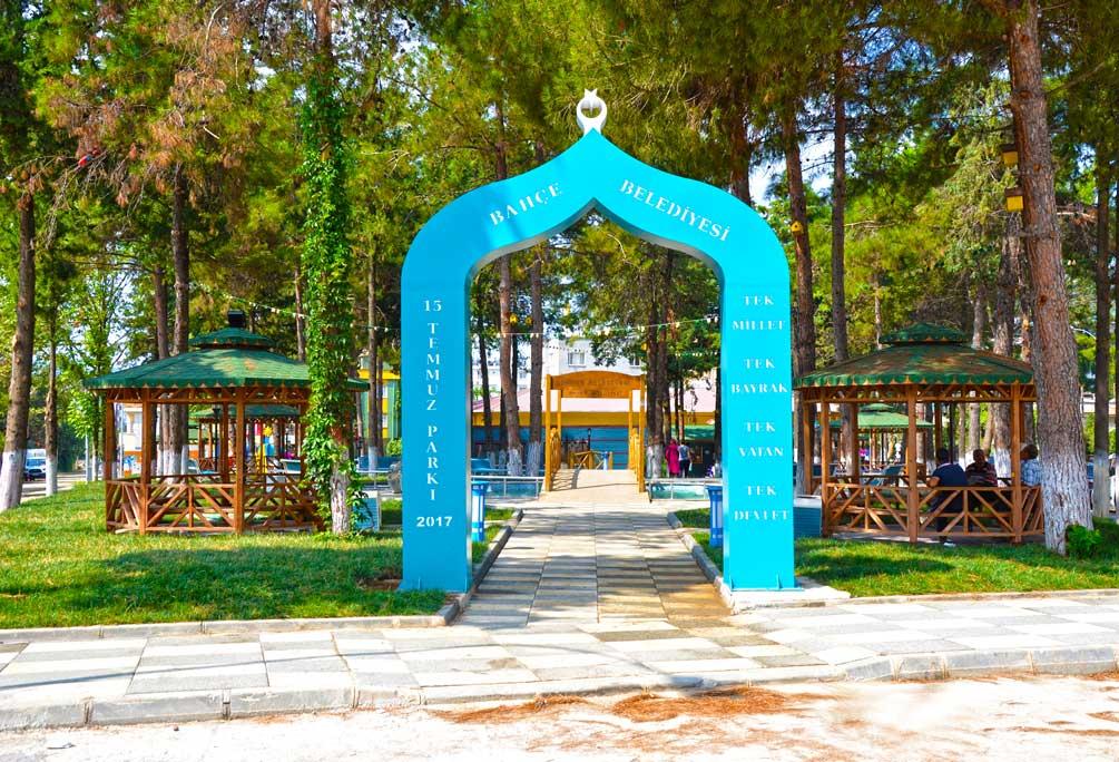 bahçe 15 temmuz parkı